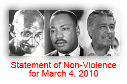 non violence ghandi martin luther king Yes, mlk and gandhi promoted non-violence, however.